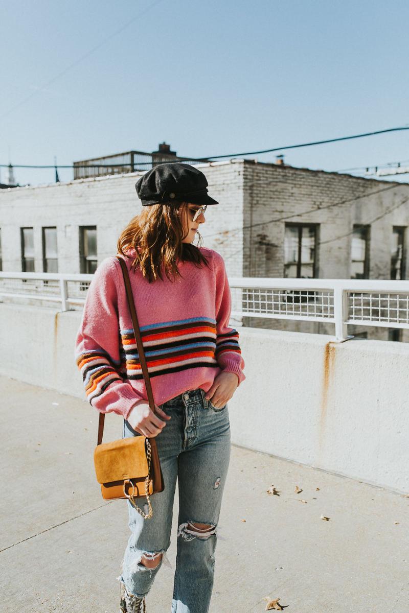 Styling Multi Stripe Sweater